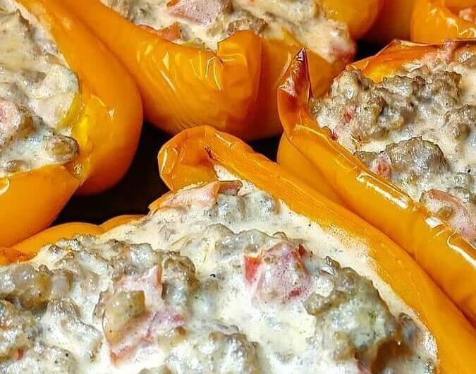 Sausage Dip Stuffed Peppers
