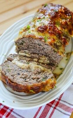 Mozzarella Philly Cheesesteak Meatloaf