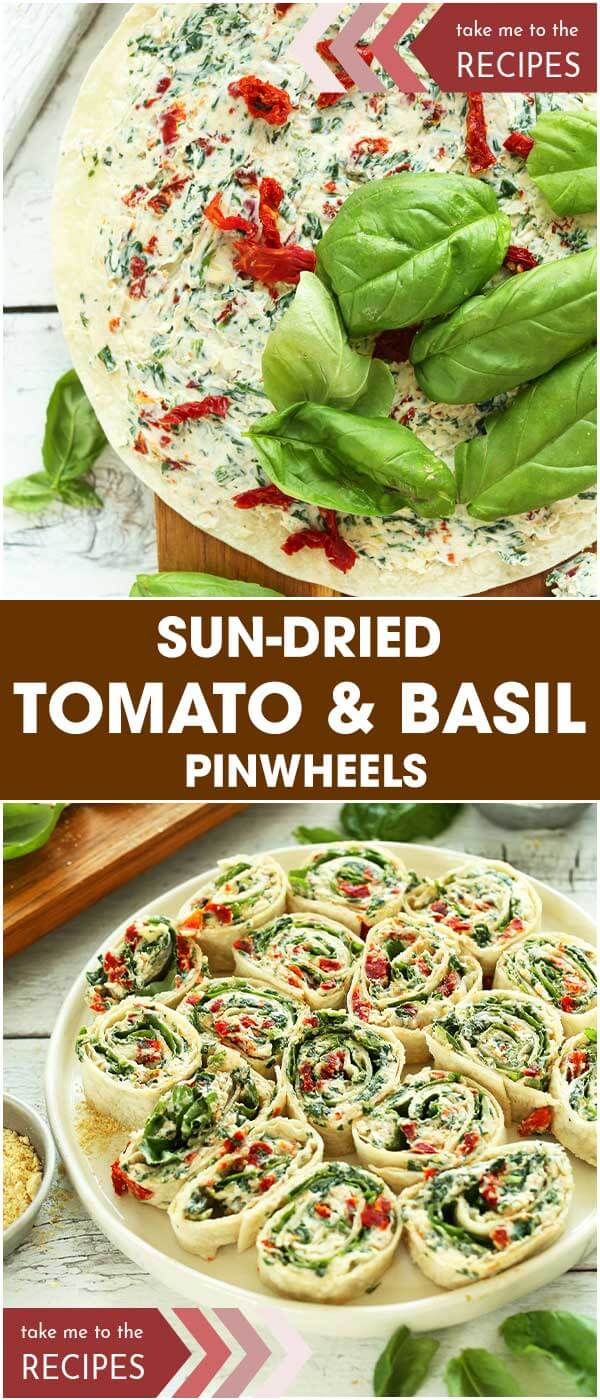 Sun-Dried Tomato and Basil Pinwheels