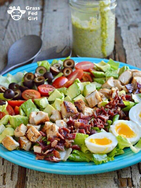 Keto Cobb Salad with Green Goddess Dressing