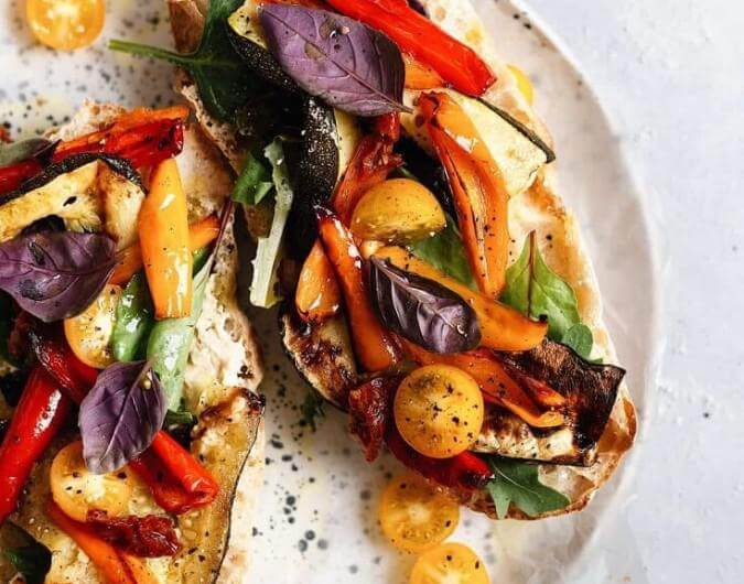 Summer Roasted Vegetable Toasted Sandwich