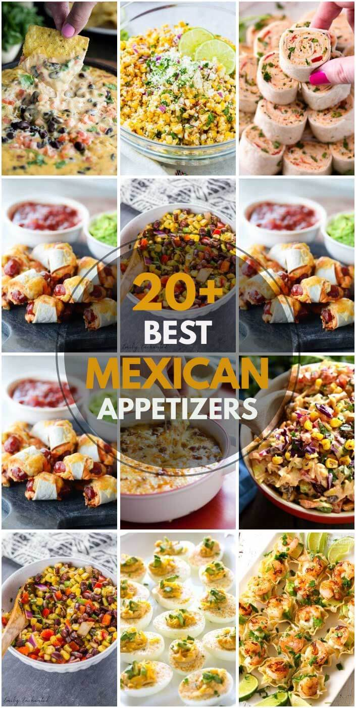 """20 """"Irresistible"""" Mexican Appetizers"""