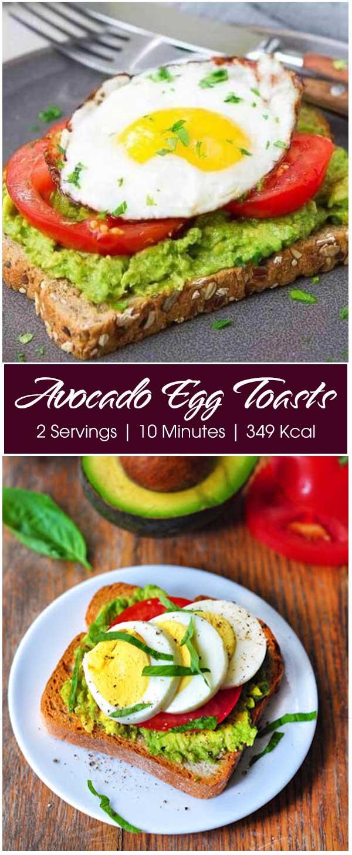 Avocado Egg Toasts