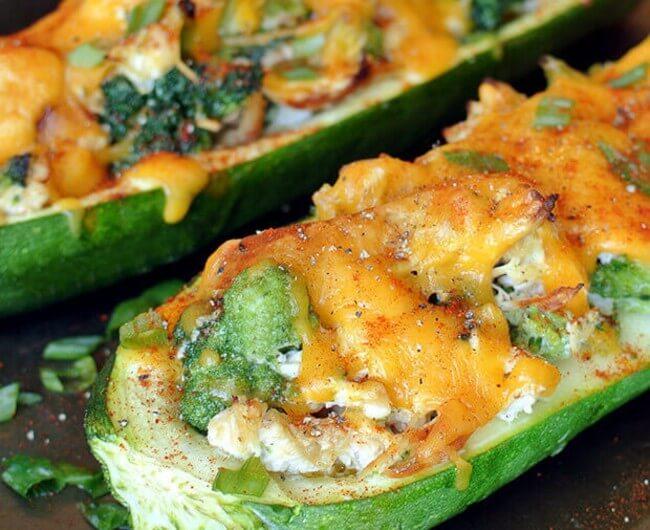 Broccoli Chicken Stuffed Zucchini By The Recipes