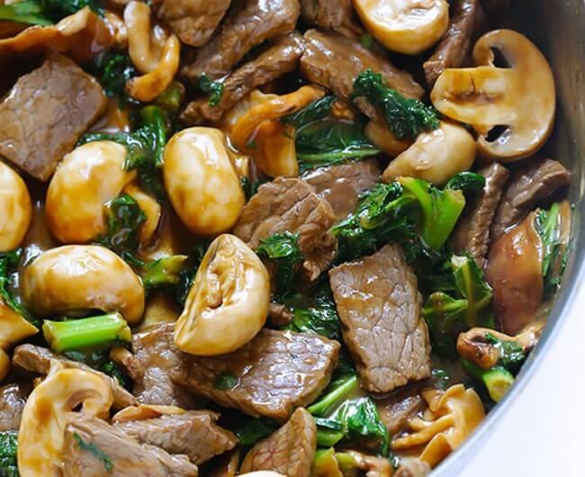 Ginger, Beef and Mushroom Stir Fry