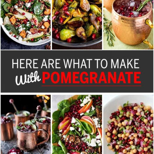 Here Are What To Make with Pomegranate!
