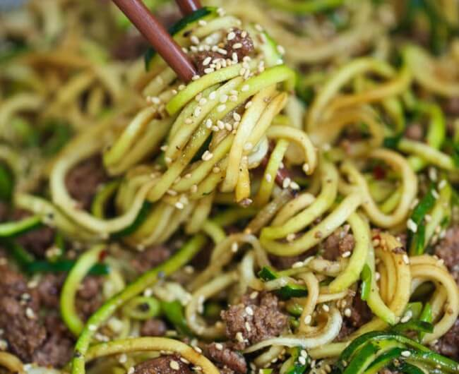 Korean Beef and Zucchini Noodles