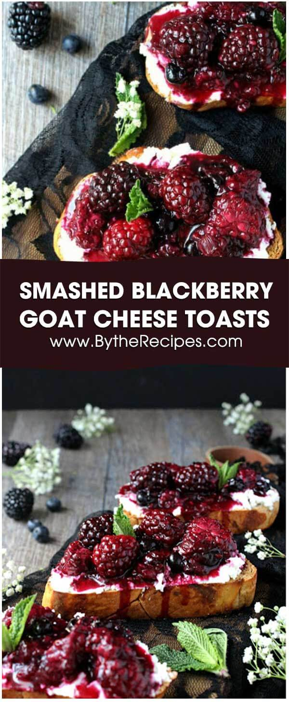 Smashed Blackberry & Goat Cheese Toasts