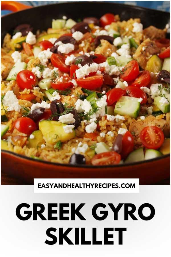 Greek-Gyro-Skillet