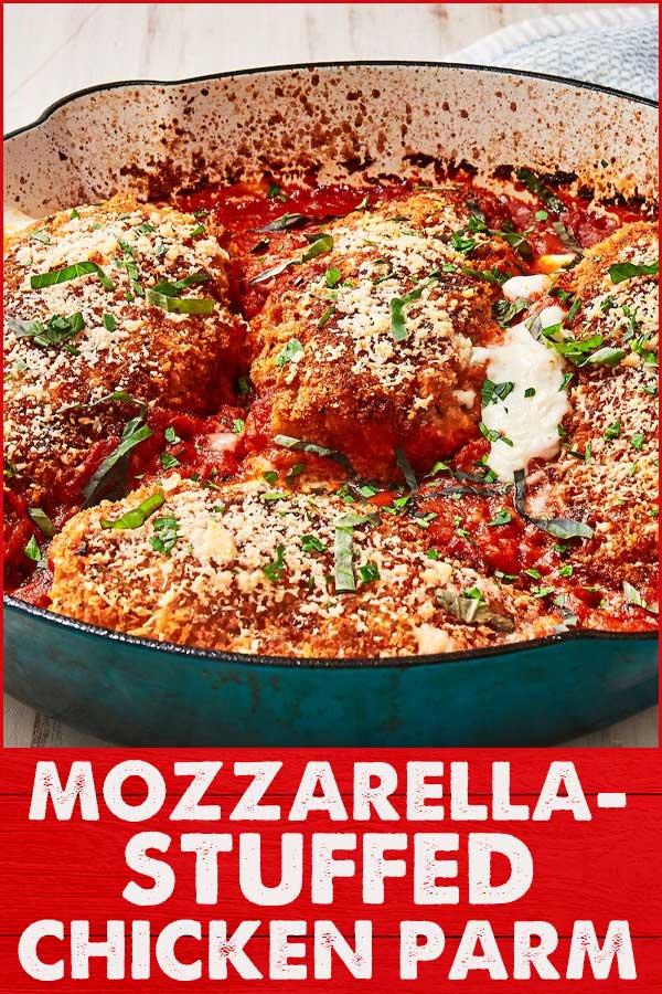 Mozzarella-Stuffed-Chicken-Parm